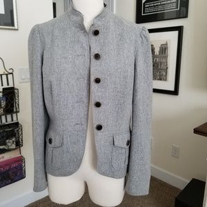 Banana Republic gray wool jacket size 12 EUC